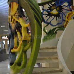 Бетонная лестница Цветы