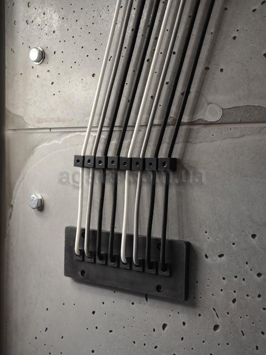 """Потолочное крепление кабеля """"КУБ"""" (черный)"""