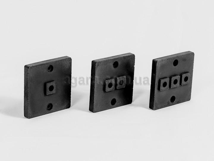Накладка для наружной проводки (1 - 2 - 3 выхода)
